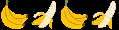 今夜のおかずはバナナ